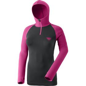 Dynafit Dryarn Warm Sudadera Capucha Mujer, negro/rosa